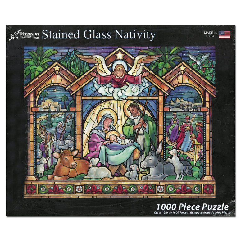 Stained Glass Nativity Puzzle