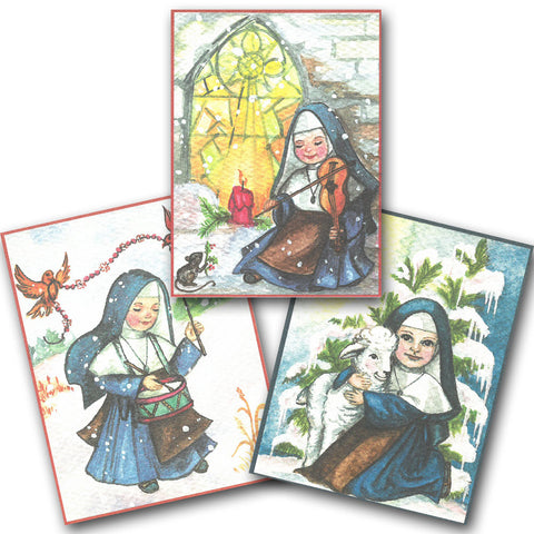 Singing Nuns Christmas Cards - 6/pkg
