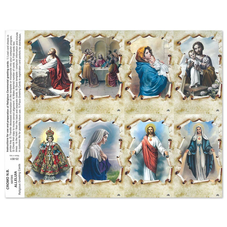 Alleluia Holy Cards
