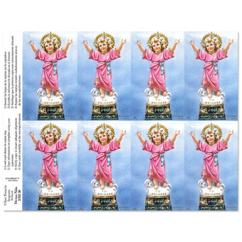 Divino Nino Holy Cards