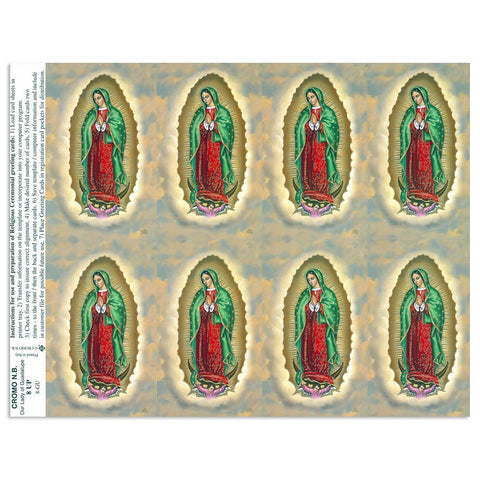 Our Lady of Guadalupe Holy Cards