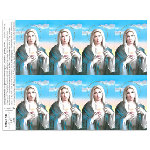 Immaculate Heart of Mary Holy Cards