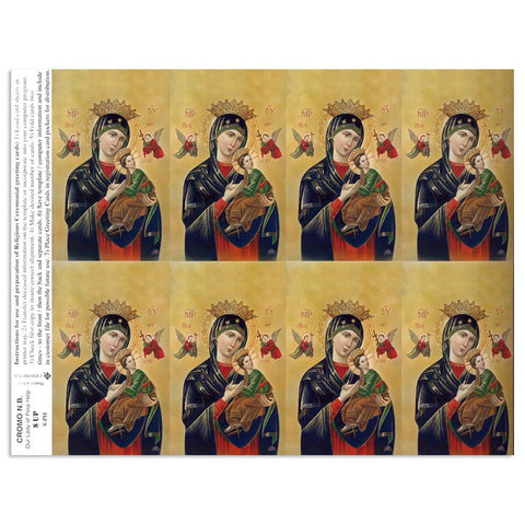 Mother of Perpetual Help Holy Cards