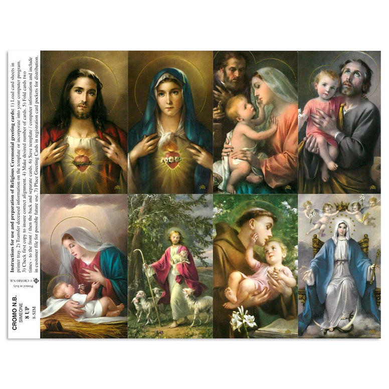 Simeone Assorted Holy Cards