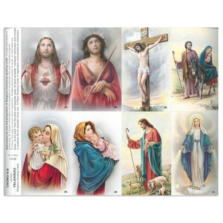 Velasquez Holy Card Sheet
