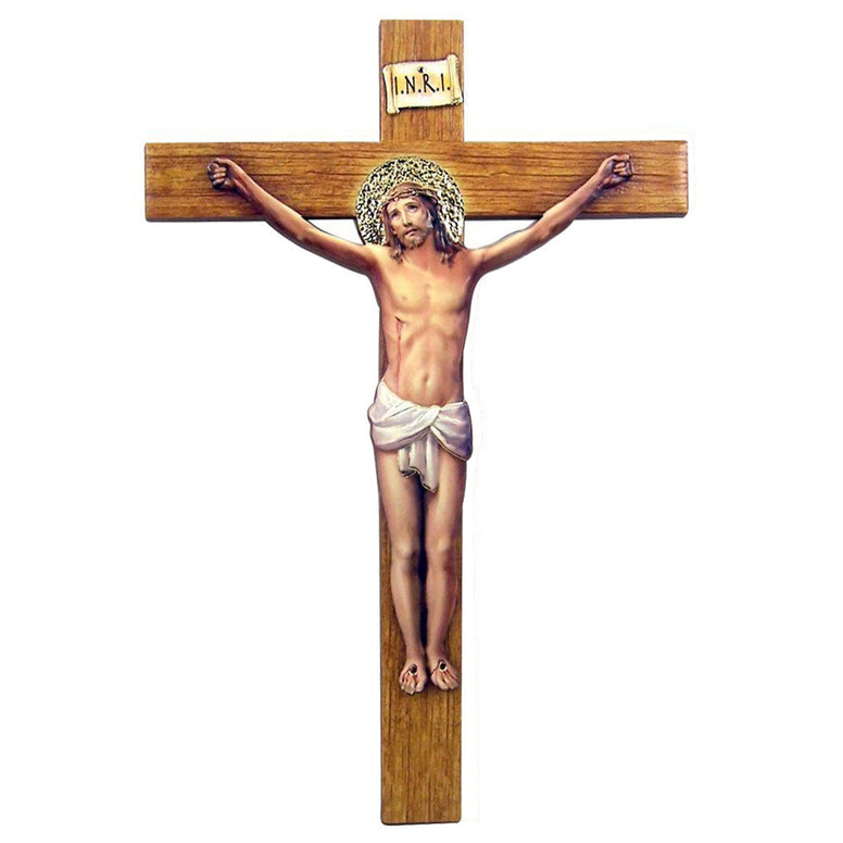 "8"" Italian Gold-Leaf Stamped Crucifix"