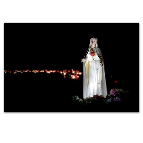 Candlelight Fatima Procession at Mount St. Michael Postcard