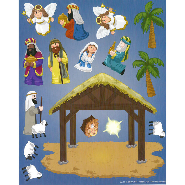 Make Your Own Nativity Sticker Sheet