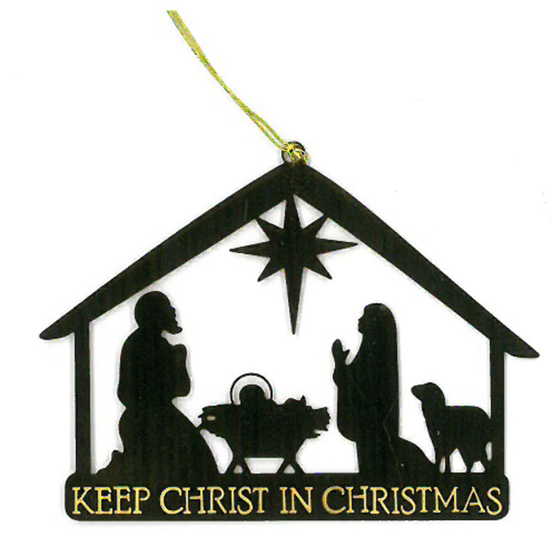 Keep Christ in Christmas Ornament
