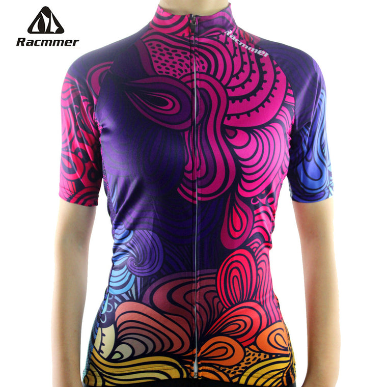 Racmmer Breathable Cycling Jersey Women Summer Short