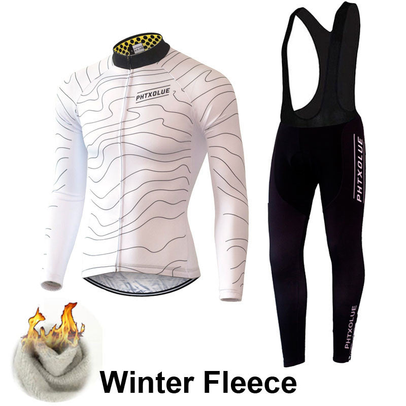 Phtxolue Winter Thermal Fleece Cycling Clothing Wear Bike MTB Jerseys Cycling Sets QY069