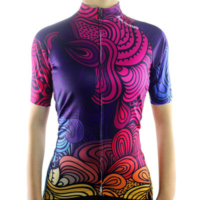 Racmmer Breathable Cycling Jersey Women Summer Short  Clothes #NS-05
