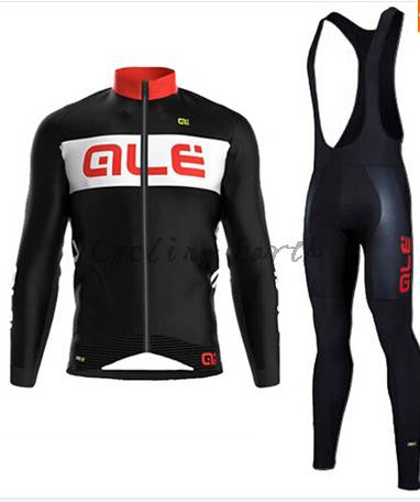 ALE Winter thermal fleece clothes cycling jersey bib pants