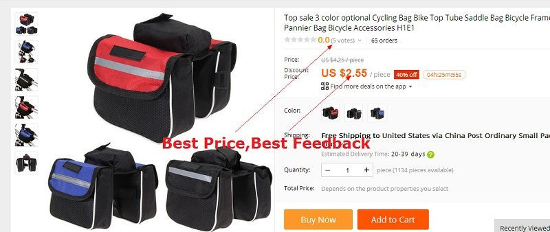 Waterproof Triangle  Cycling Front Tube Frame Pouch Saddle Bag  Panniers H1E1