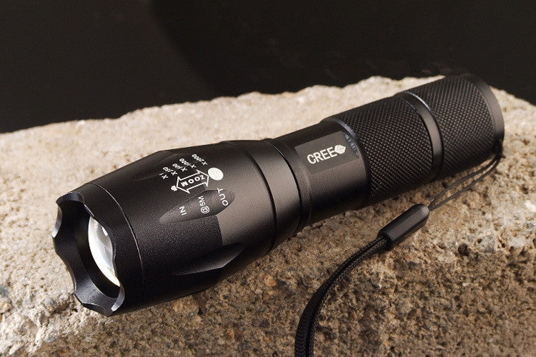 High Quality CREE Q5 5 Modes Zoomable Waterproof LED Flashlight