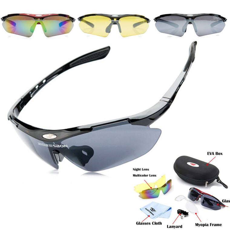 3 lenses /, Polarized Brand, new cycling  sunglasses  sport   Myopia 100% UV400