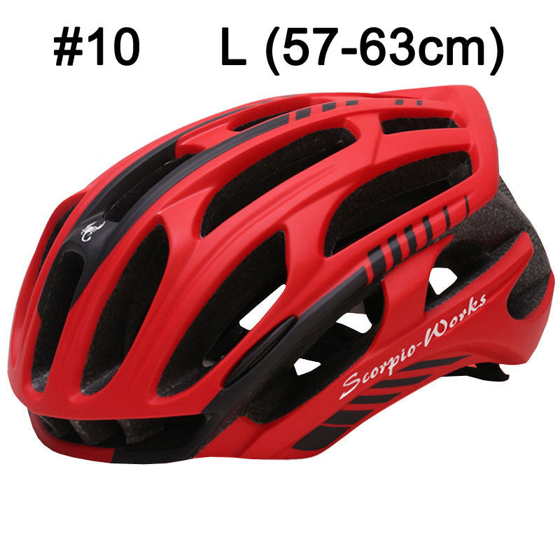 LOCLE Cycling Helmet Road Mountain With LED Warning Lights Casco Ciclismo