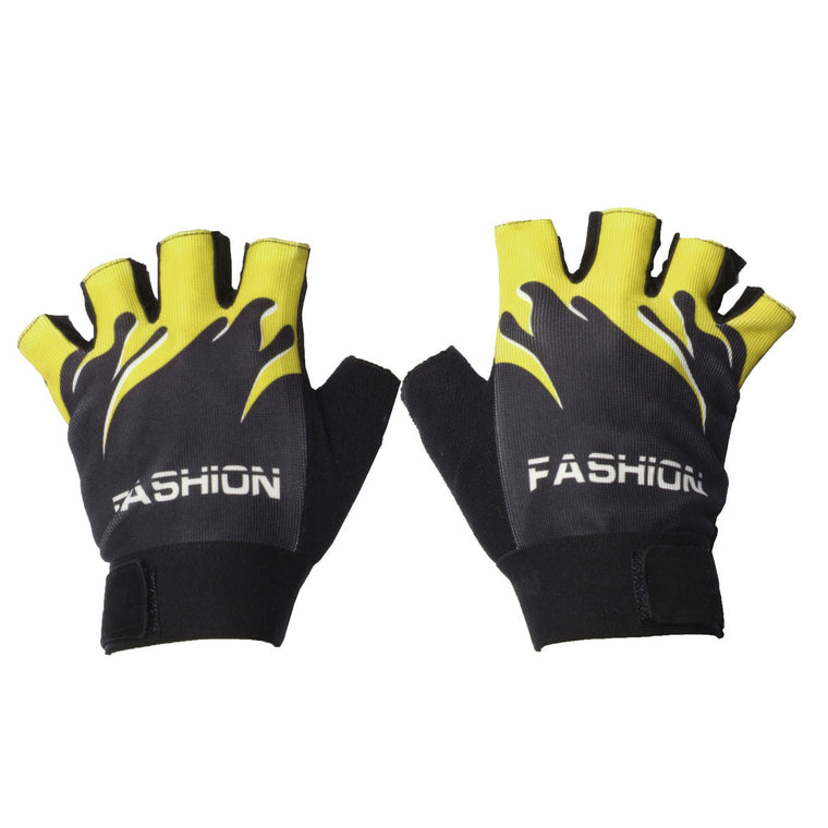 1 Pair Shockproof Mittens Non-Slip Sports Gloves Summer  Bicycle Half Finger