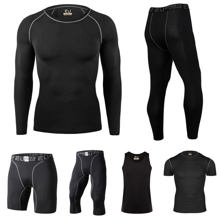 Mens Compression Long Sleeve Jersey Bike T-shirts Quick Dry