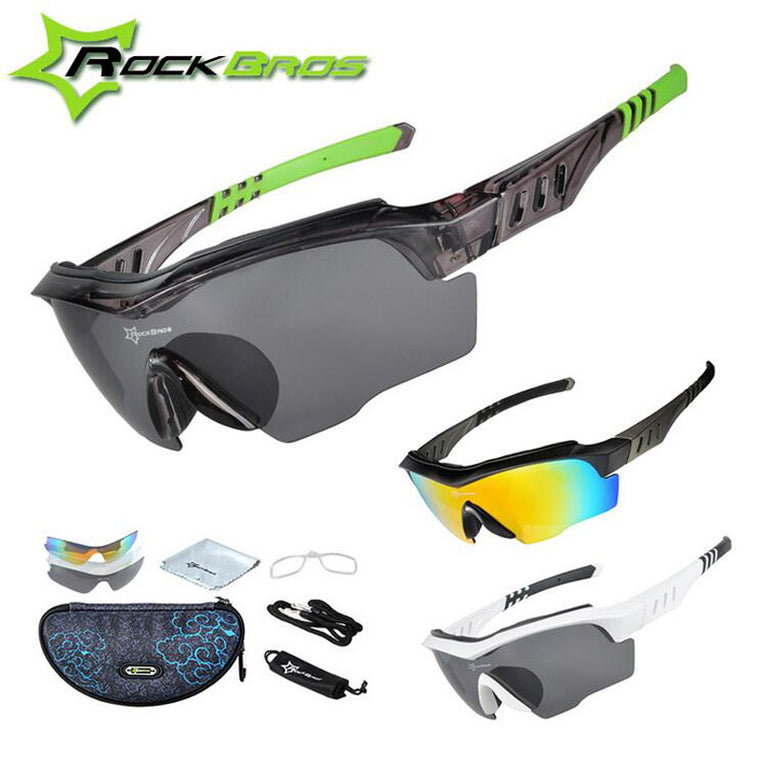 ROCKBROS 3 Lens Polarized Cycling Glasses  Bicycle MTB Sunglasses H6126