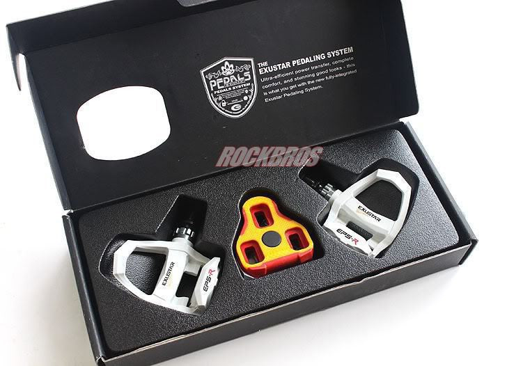 EXUSTAR Cycling  Clipless Pedals Part Thermoplastic Body Axle CNC-machined Cr-Mo, E-PR200