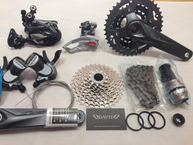 Shimano Cycling Groupset Alivio M4050 Group Set 9-speed 170mm