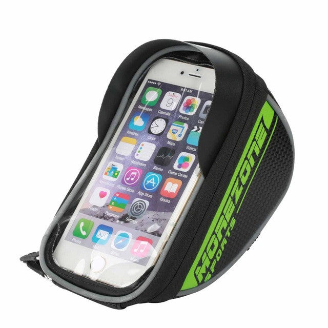 "MOREZONE Mountain Road Bike Bag 1.7L Touchscreen Handlebar Bag For 5.5"" Cellphone"