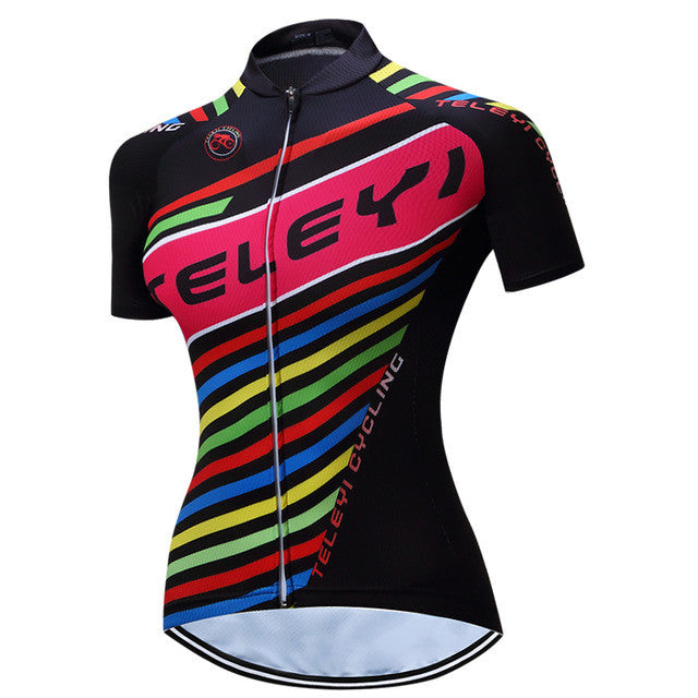 TELEYI Caitlin Summer Breathable Women Ropa Ciclismo Cycling Jersey