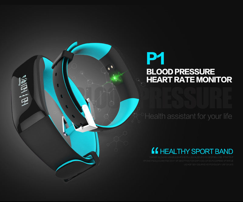 P1 Smartband Watch Blood Pressure Bluetooth /Heart Rate  for Android IOS Phone