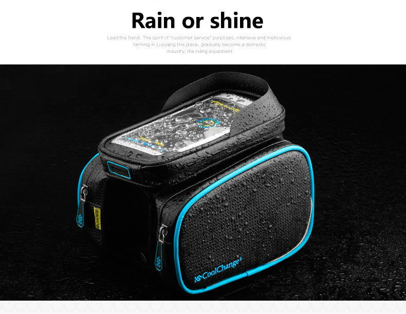 CoolChange Top Tube Waterproof  Bike Bag & Double IPouch6.0 in Cell Phone