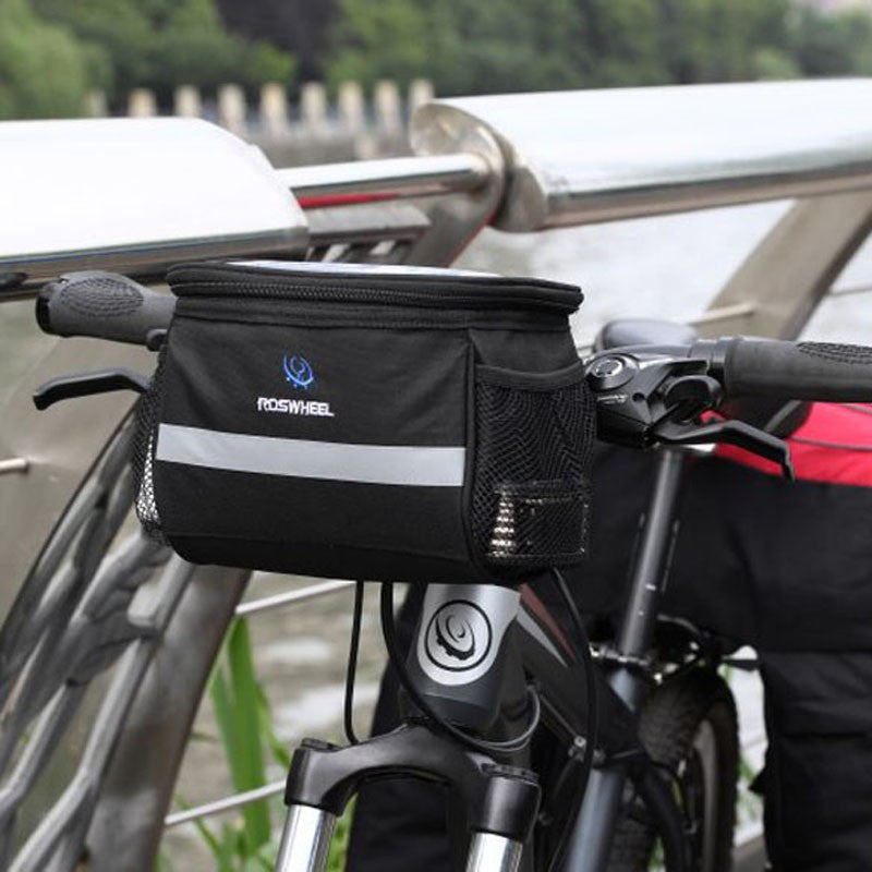 Sports Bicycle Front Handlebar Bags  Frame Tube Bag for Map Phone Water Bottle