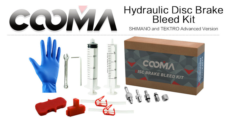 Hydraulic Brake BLEED KIT for SHIMANO and TEKTRO Brake System, Mineral Oil Brake system, Adv Class Kit, 1.1