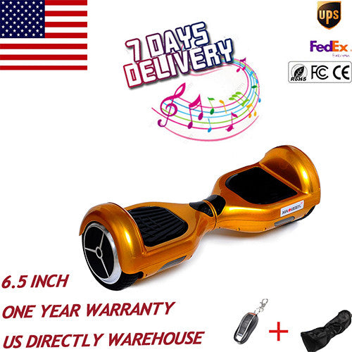 US STOCK 6.5 inch 2 wheel smart self balance electric scooter hoverboard