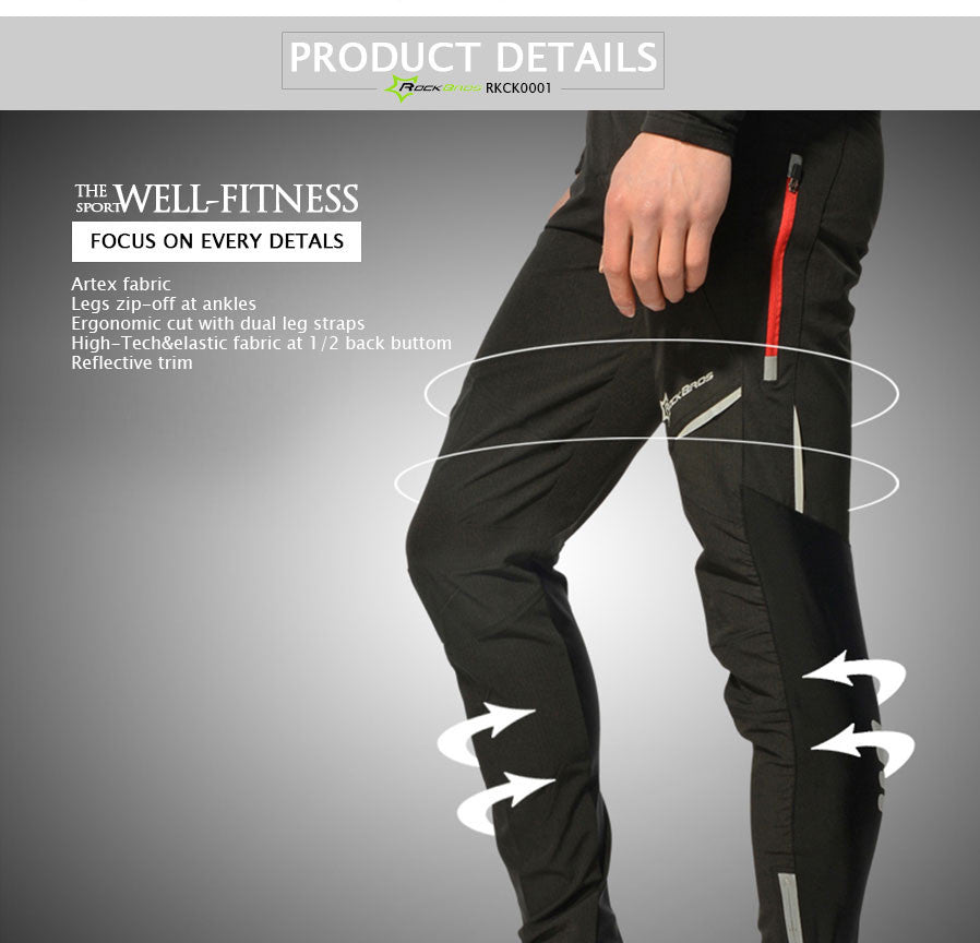 Rockbros Cycling Pants Men Women Tight Long Trousers/ Pantalones Moto Underwear 2017