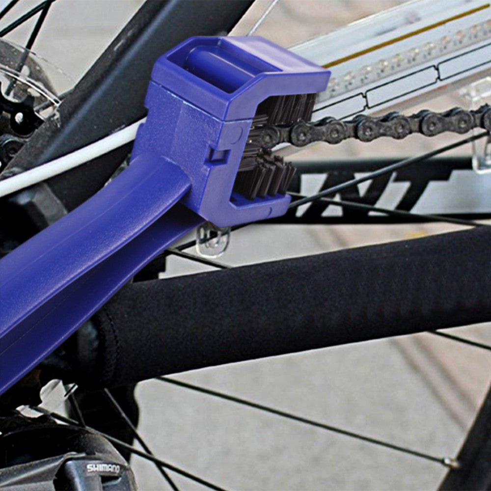 Cycling Chain Crankset Brush Cleaner Tool Blue Scrubber
