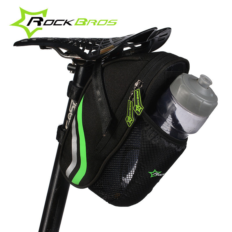 ROCKBROS Cycling Mountain Bike Back Seat Rear Bag Nylon Saddle Bag Pouch