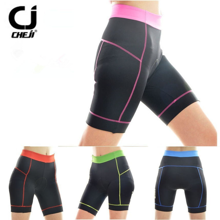 5 Colors Women Cycling 3D Silicone Padded Short