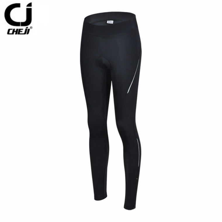 Hot CHEJI Women Pro Bike pants Black Sports Cycling Gel 3D Padded