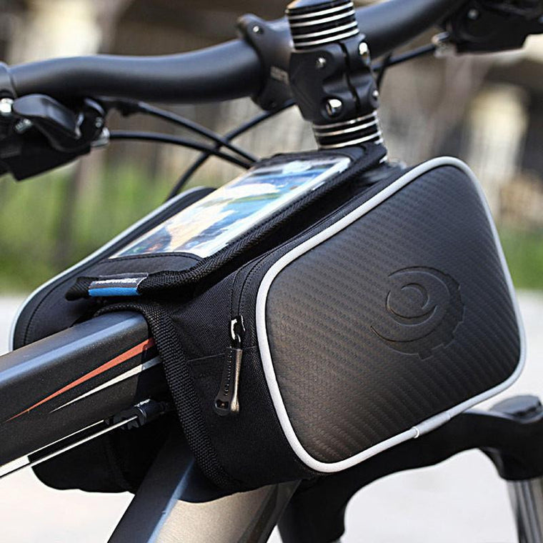 Cycling Top Frame Front Pannier Tube Bag Double Pouch Holder Mountain Touch Screen