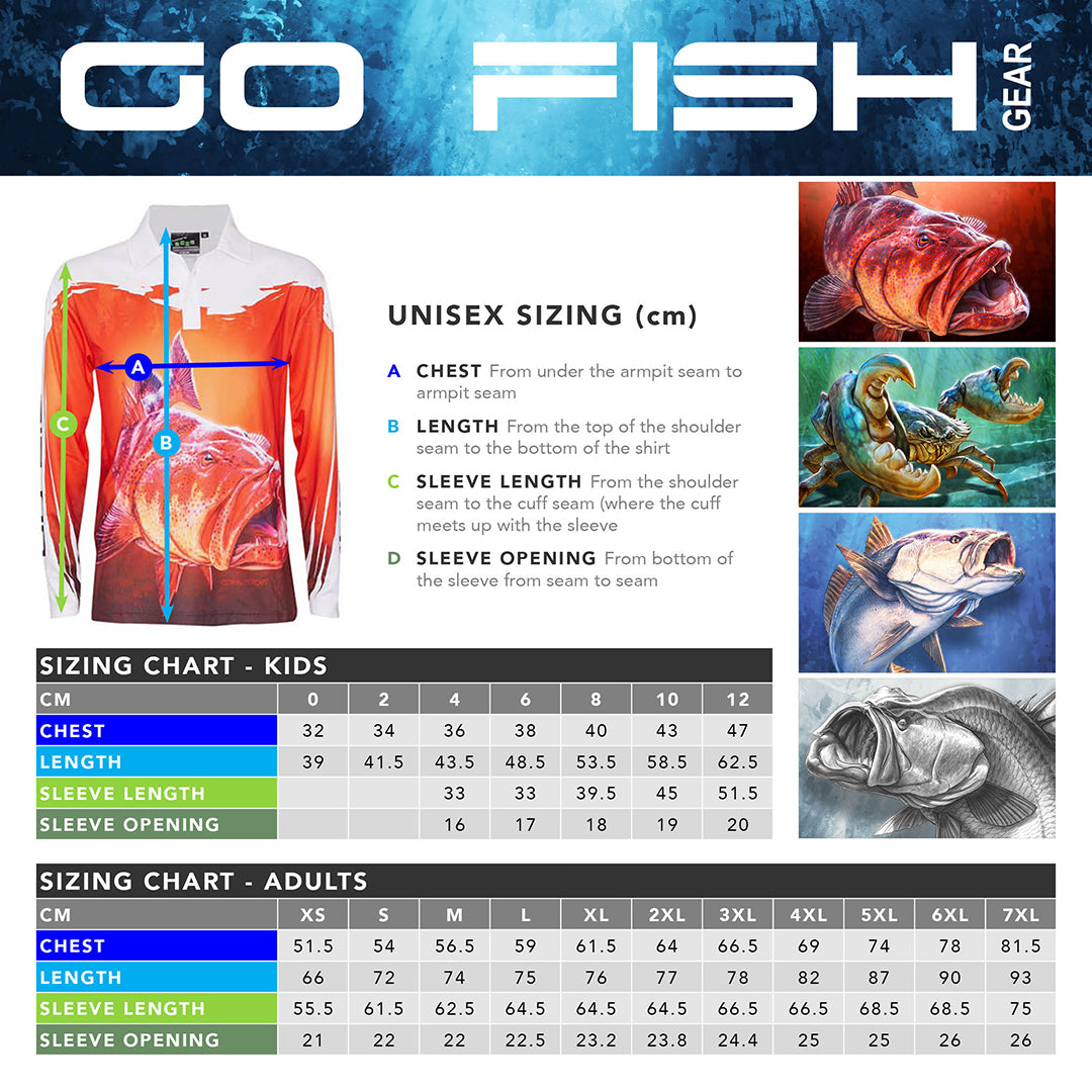 864d9338 ADULTS | Go Fish Long Sleeve Fishing Shirt | RED - Go Fish Gear