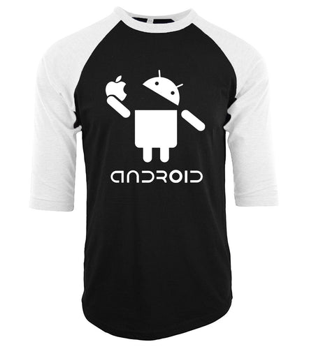Android > Apple Baseball Tee