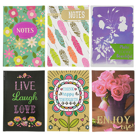 60-Sheet Fashion Hardback Journals, 5x7 in. - Dollar Store