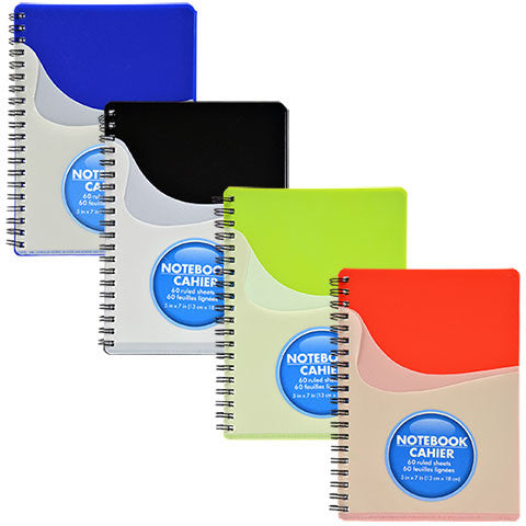 60-Sheet Spiral-Bound Pocket Notebooks - Dollar Store