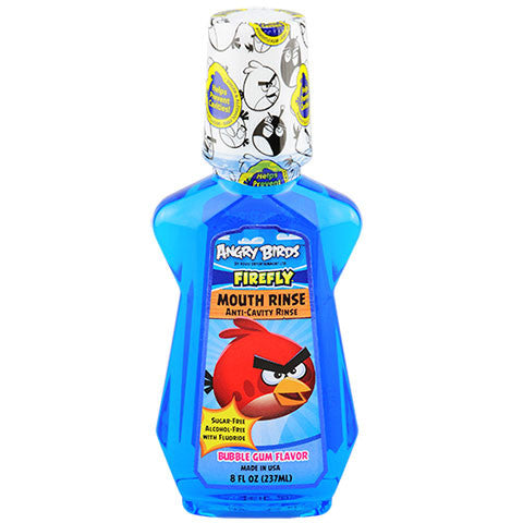 Angry Birds Firefly Anti-Cavity Mouth Rinse, 8-oz. Bottles - Dollar Store