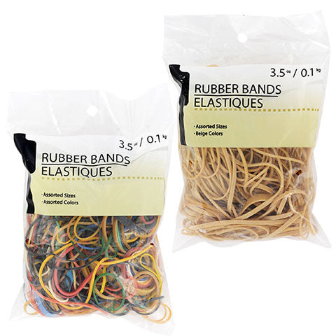 Assorted Rubber Bands, 3.5-oz. Packs - Dollar Store