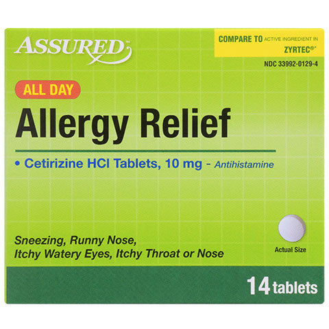 Assured All-Day Allergy Relief Tablets, 14-ct. Packs - Dollar Store