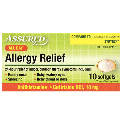Assured All Day Allergy Softgels, 10-ct. Packs - Dollar Store