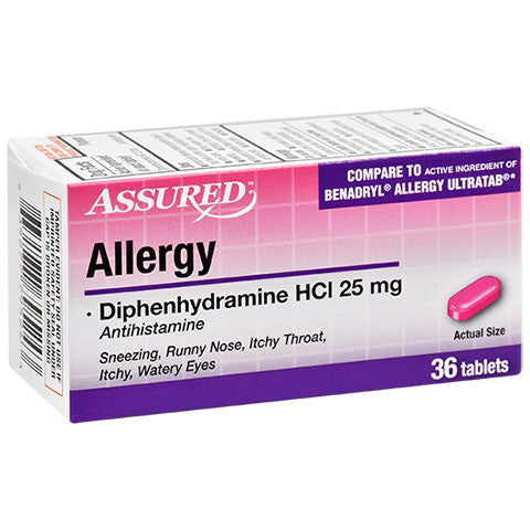 Assured Allergy Mini Tablets, 36-ct. Bottles - Dollar Store