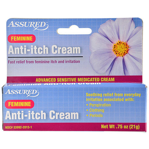 Assured Feminine Anti-Itch Cream, .75-oz. Tubes - Dollar Store