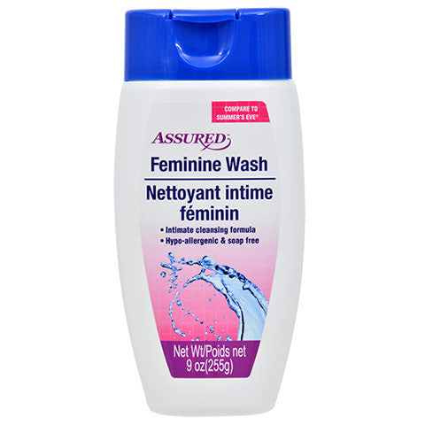 Assured Feminine Wash, 9-oz. Bottles - Dollar Store